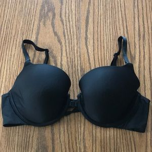 Victoria's Secret black lined demi bra 36C